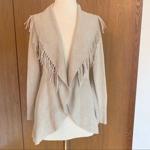 WHBM Gold Fringed Cardigan Sz Small